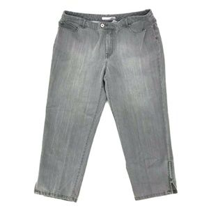 Chico's Platinum Cropped Capri Jeans Sz 2.5/L/14
